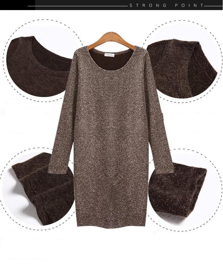 Женское платье spring autumn fashion casual women woolen dress Plus Size SMLXLXXL XXXL XXXXL 5XL