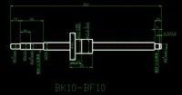 Шарико-винтовая пара 1204 Rolled Ballscrew set- 1pcs SFU1204 -L300mm+61mm +1pcs ballnut + 1set BK10 BF10 Support