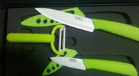 YARCH  High quality ceramic knife sets 3inch+5inch+Ceramic Peeler Free  shipping