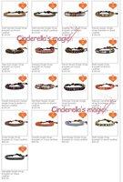 Браслет из бусин 2012 twelve constellations mixed color beads bracelet fashion jewelry
