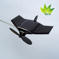 Free shipping, 1pc/lot, Solar DIY airplane model, plastic airplane model, educational toy for children or school