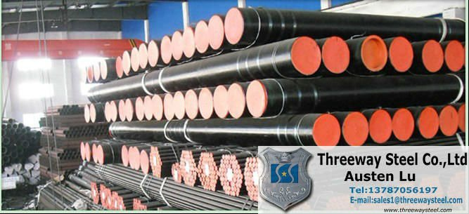 Threaded seamless tube with coupling
