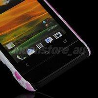 Чехол для для мобильных телефонов FLORAL PATTERN HARD RUBBER BACK CASE COVER FOR HTC ONE V