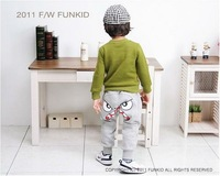 Брюки для девочек 2013 100% cotton casual children's pants male female spring autumn trousers