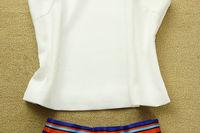 Женское платье New Spring Europe Runway Show Woman Dress Set Vest Tops Sleeveless Dimensional Flowers Shoulder Striped Print PK-129
