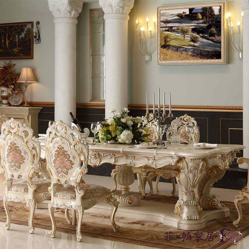 Final De Madera Ejecutivo De Comedor Muebles Antiguos Europeo Cl 225 Sico Con Muebles De Alta Habitaci 243 N