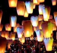 Воздушный шар ROMANTIC Chinese Kongming Lanterns Sky Lanterns Wishing Lamp 10PCS/pack MIXED COLOR