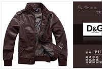 Мужские изделия из кожи и замши Leather clothing Top laundering Pi Qipi male funds leather jacket coat size m-xxl