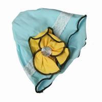 Головной убор для девочек 5pcs LT Blue Cotton Chic Flower Floral Button Design Spring Autumn Unisex Girls Boys Baby Hat GFB10