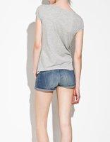 cartton футболка тонкий o шеи с носовой printend для epacket и Китай пост воздуха почты