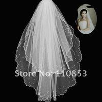 Свадебная фата Graceful Round Two-Layer Beading Bride Veil