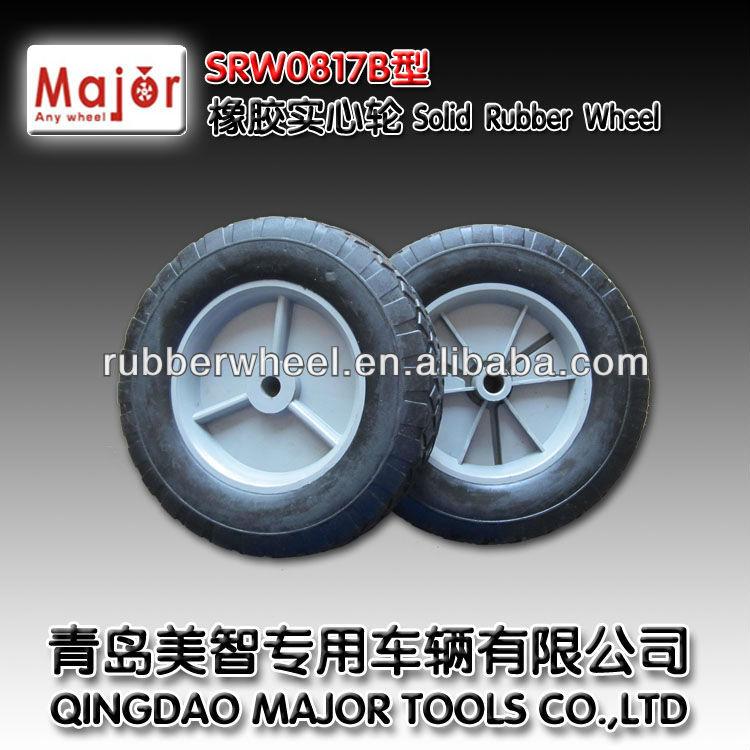 8*1.75 solid rubber wheel(solid wheel,rubber wheel)
