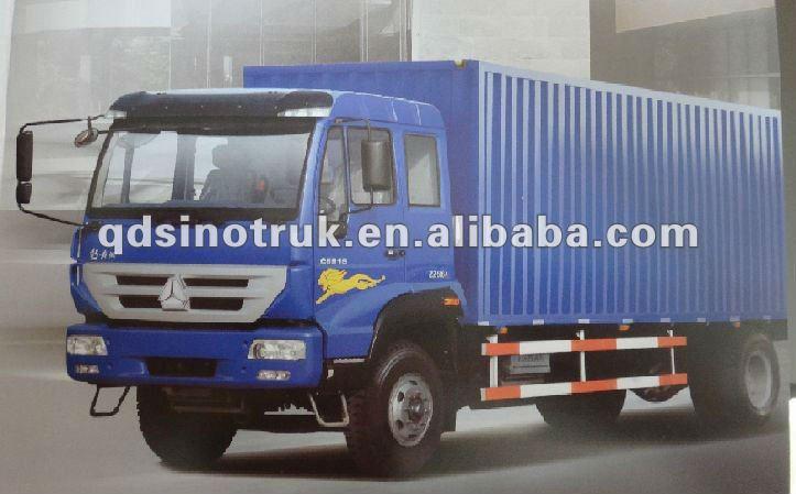 Sinotruk huanghe 4*2 Transport van cargo truck