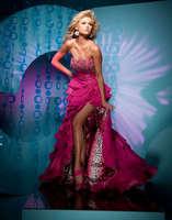 Платье на студенческий бал In stock beading Sexy leopard front slit prom dress