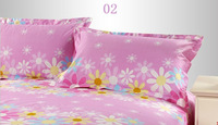 Free shipping, wholesale&retail home textile bedding 100% cotton printed leaf pattern pink pillow case,pillowcase,pillow cover