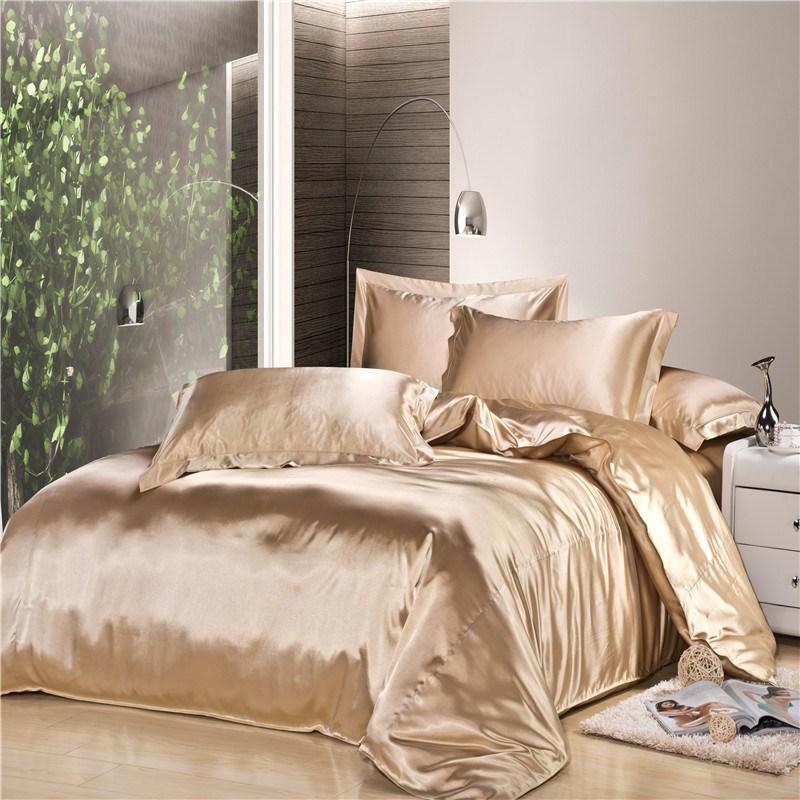 king size beige silk comforter set duvet cover bed sheet