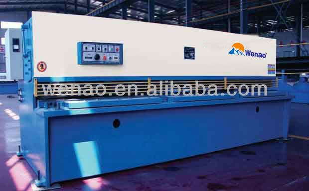 QC12Y-4x2500 steel plate cutter /Hydraulic swing beam shearing machine