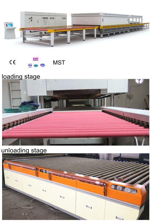 2014 Hot Sale Low Price CE Reciprocating Horizontal Flat Glass Tempering Furnace
