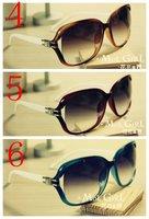 Женские солнцезащитные очки 2012 fashion Men and women sunglasses Big box toad glasses