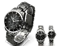 Free shipping 1pair fashion elegant white couples watch men and ladies watches
