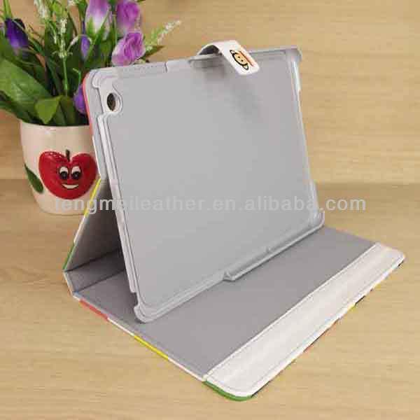 Cute Cartoon Leather Case For iPad Mini ,Monkey Pattern PU Leather Case Cover Stand For iPad Mini