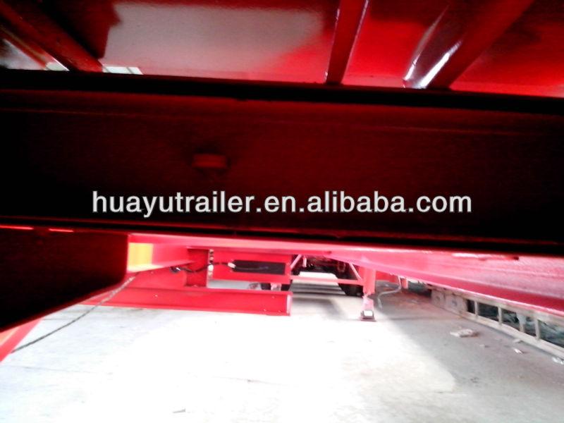 width extendable flat low bed semi trailer