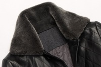 Мужские изделия из шерсти men's long leather down jacket sheep leather wool collar fashion jacket coat winter men plus size xxl xxxl