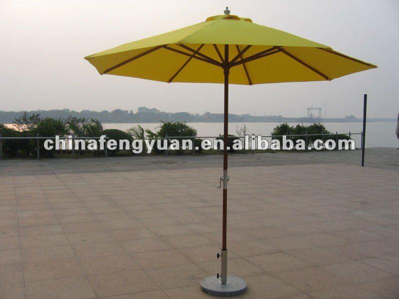 Outdoor umbrella, wooden pole beach umbrella,View beach umbrella ...