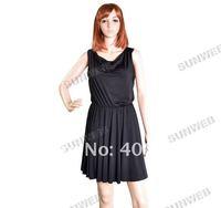 Женское платье Fashion Women's Vintage Sleeveless summer Dresses Lace Dress Black Size M/L 5697