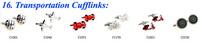 Запонки и зажимы для галстука TZG00845 Enamel Cufflink 1 Pair