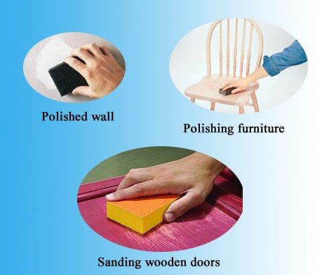 use sanding sponge