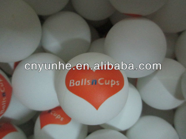 Winho custom 2colors printed celluloid 40mm seamless 3star quality pingpong ball