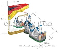 Candice guo! 3D puzzle toy CubicFun architecture 3D paper model jigsaw game Neuschwanstein castle