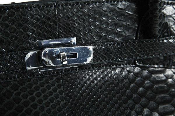 Wholesale Manufacturer Python Snake Skin Handbag Tote Bag for Women Black