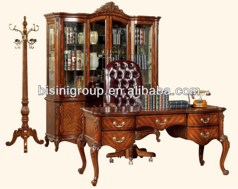 Américain antique conception soild bois bureau bureau ensemble ...