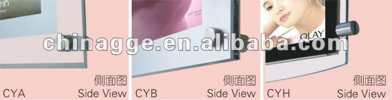 Crystal poster frame