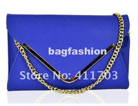 2012 New style handbag Messenger chain girls' shoulder bags evening bag leather envelope bag drop shipping 6120