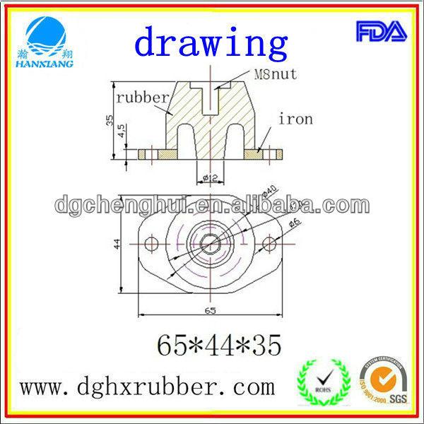 wear-resisting of Rubber Buffer For Shock Absorber