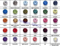 Mixed Colors (SEE DESCRIPTION) DIY Pointback Rhinestones Crystal Stones144/288/720/1440 pieces/pack Free Shipping