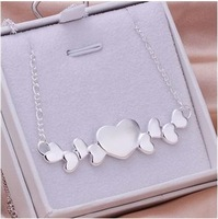 Free shipping wholesale 925 silver jewelry set heart set earrings and necklace new arrival fashion jewelry