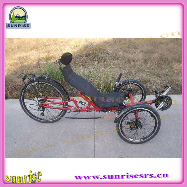 China foldable recumbent bicycle road type with three wheels