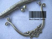 Детали и Аксессуары для сумок Track Ship+10pcs/lot DIY Purse 20cm Bronze Color Plum Blossom Metal Purse Frame Handle for Bag Sewing Craft Tailor Sewer