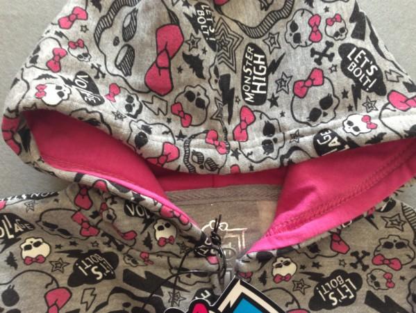 Розничная торговля детей одежда девушки монстр высокой свитер с длинными рукавами Толстовки Пальто и пиджаки