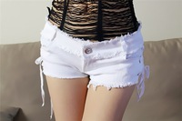 Женские шорты New summer women shorts Sexy Fashion Black Low-waist denim print pants