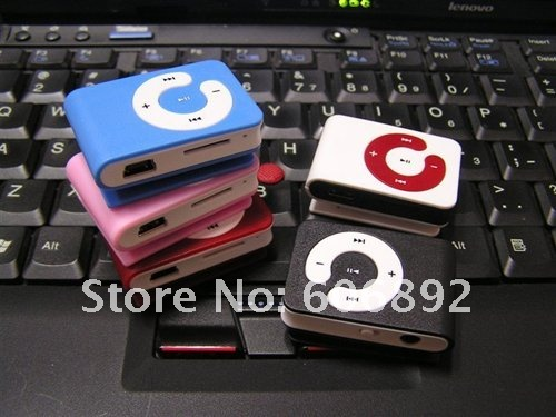 Free shipping 5pcs/lot New mini Mp3 player C keys card clip without screen Support 1-8Gb Micro TF card