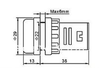 AD16 22 ad16-22 красный ac220v привело питания индикатор и сигнал 22 мм размер привело лампочка