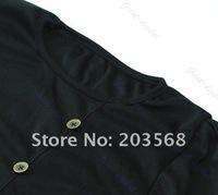 Мода Корея леди сексуальная пять buckl круглый экипажа шею длинным рукавом случайные мини-платье