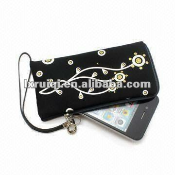 2013drawstring soft velvet mobile bag