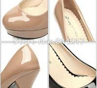 Туфли на высоком каблуке hot selling women high heel Patent Leather Vintage with waterproof