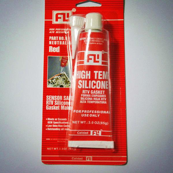 Силиконовая тепловой цвет красный Gmq медведь высокой температуре 343 (650F) прокладка герметик